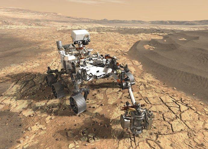 Mars 2020 rover robot espacial explorador de la NASA