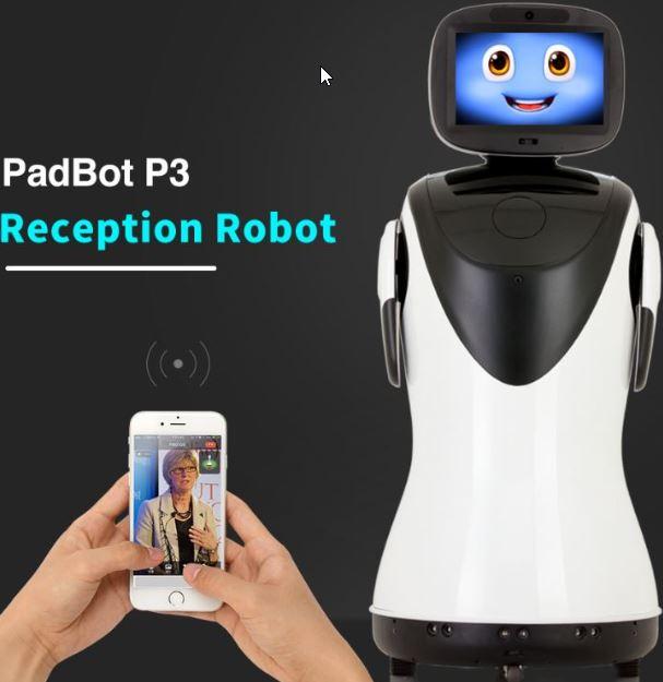 Padbot P3 robot Mayordomo recepcionista para hoteles y restaurantes
