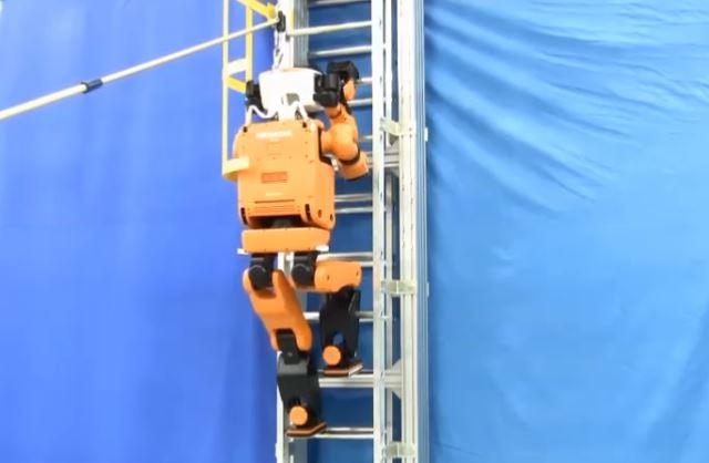 Robot R2-DR de Honda para rescate y exploración en escalera