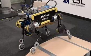 Robot ANYmal con forma de perro con ruedas de AnyBotics