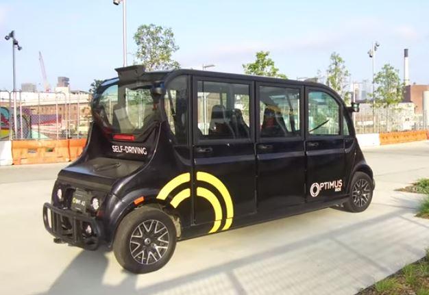 Optimus Ride es un coche autónomo que colabora contra la pandemia China